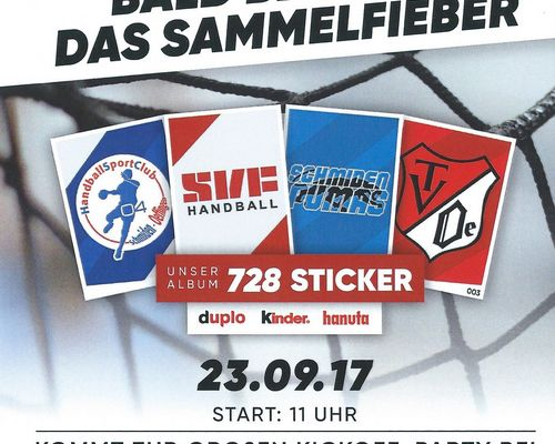 Fellbachs Handballer werden Sticker-Stars